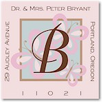 Name Doodles - Square Address Labels/Stickers (Thea Light)